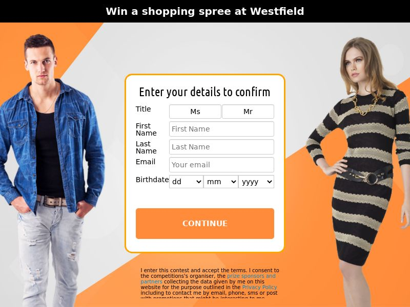 Westfield voucher - NZ (NZ), [CPL], Lotteries and Contests, Single Opt-In, paypal, survey, gift, gift card, free, amazon