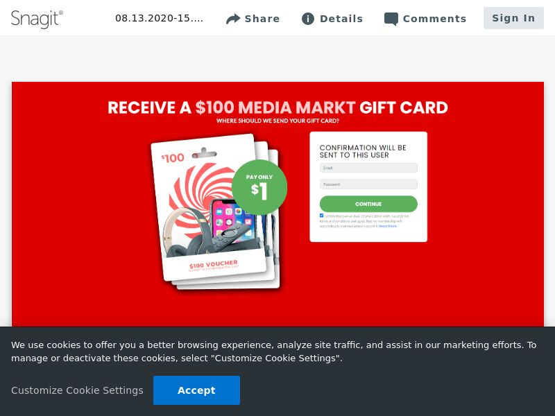 $100 Media Market Giftcard | DE,JP,NZ