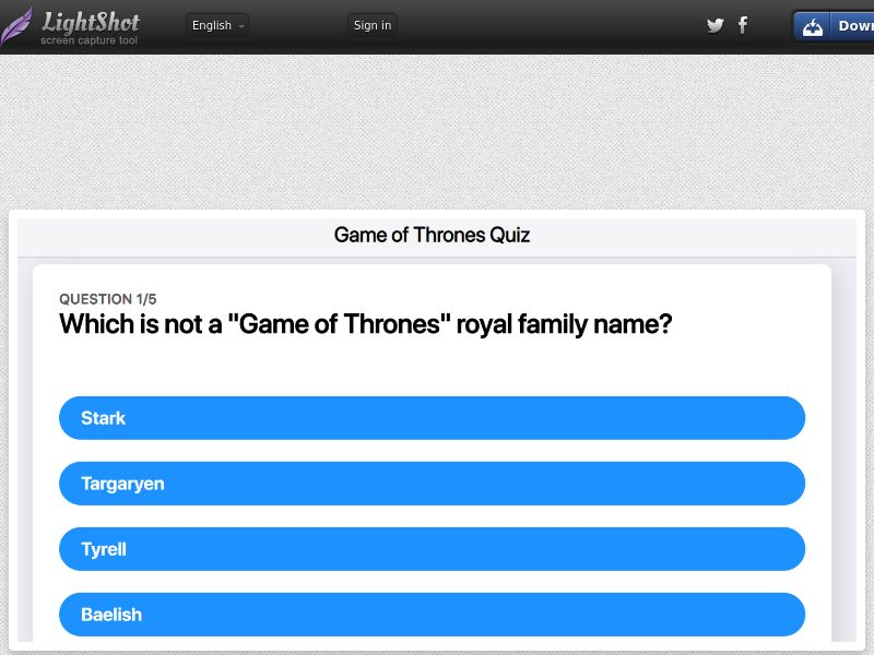 Game of Throne Quiz (iPhone Only) US