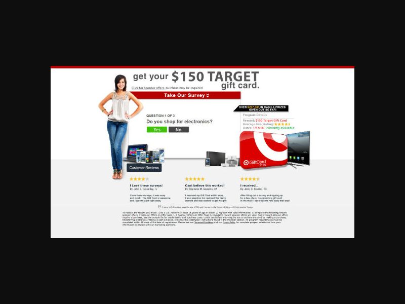 Opinion Share Research - $150 Target Gift Card - SOI (US)