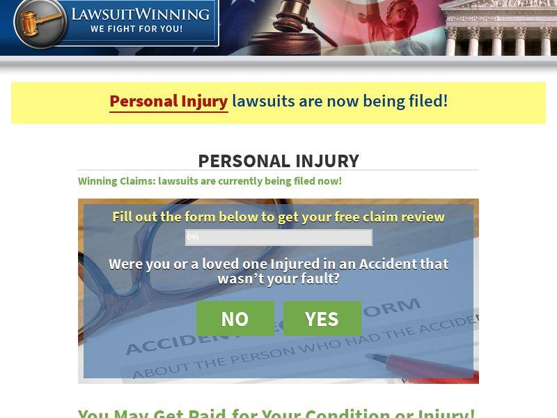 Lawsuit Winning - Personal Injury - US