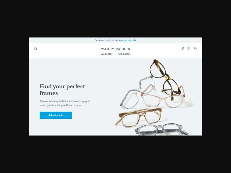 Warby Parker - Eye Glasses - Display Only - Free Trial or Purchase