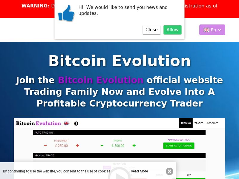 The Bitcoin Evolution - AU (AU), [CPA], Business, Investment platforms, Cryptocurrencies, Deposit Payment, bitcoin, cryptocurrency, finance, money