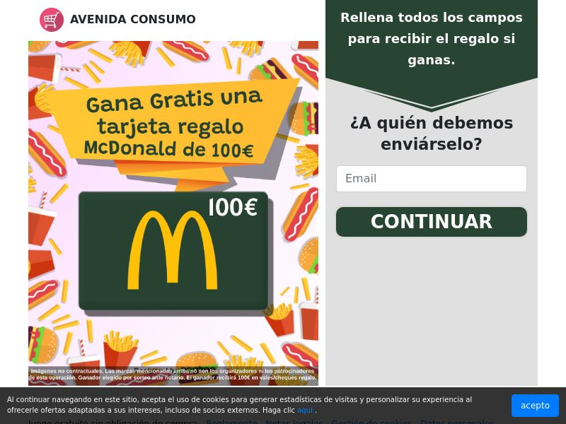 ES - Avenida Consumo - Tarjeta McDonald