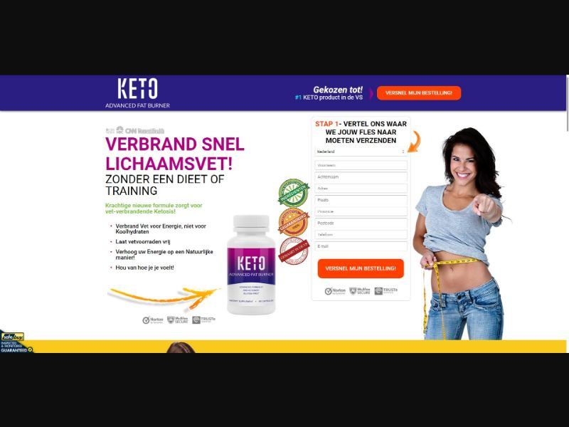 Keto Advanced Fat Burner - Diet & Weight Loss - SS - [NL, BE]