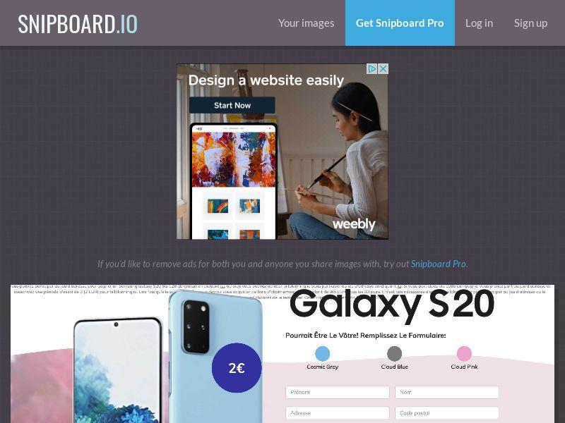 40456 - FR - BigEntry - Samsung S20 - CC submit (GASMOBI EXCLUSIVE)