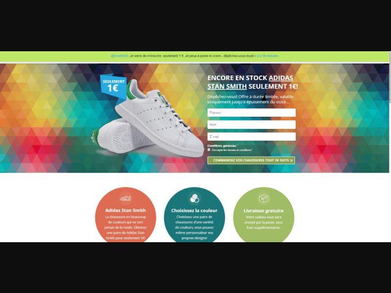 Adidas Stan Smith - Sweepstakes & Surveys - Trial - [FR]