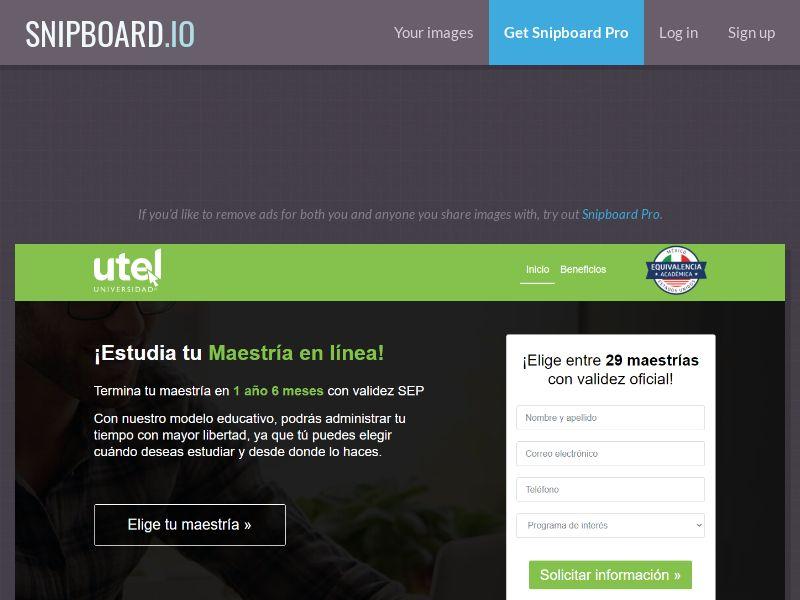 41137 - MX - UTEL Maestrías CPL - [Push - display] [monthly 500 cap]