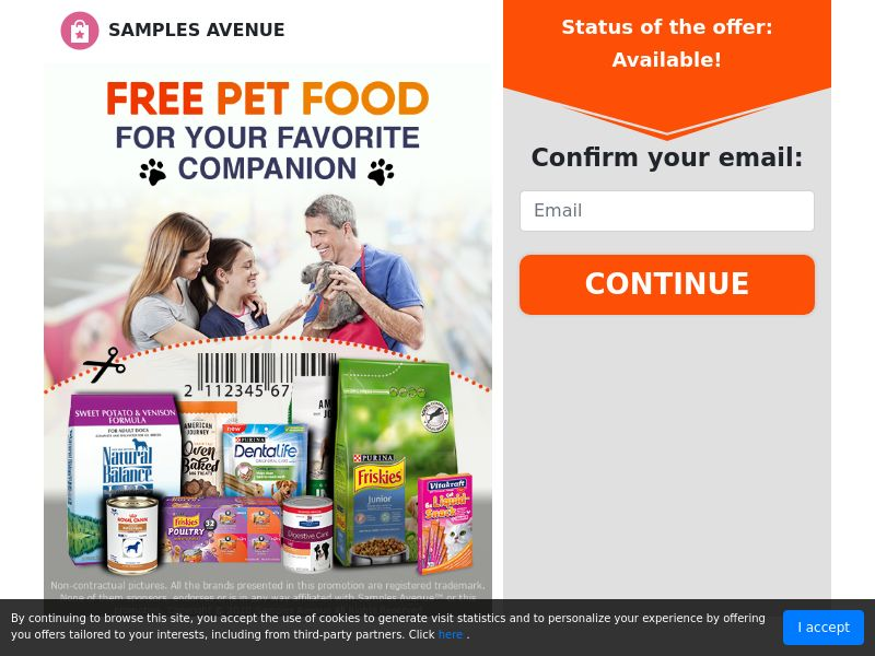 Pet Food Samples (Email Submit) - US