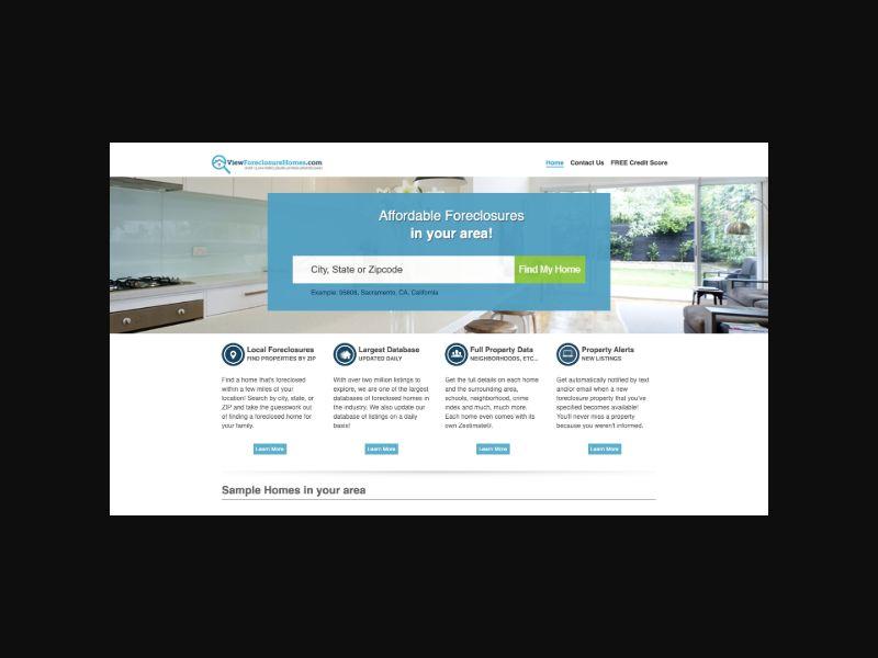 ViewForeclosureHomes CPS (US) $1 Trial