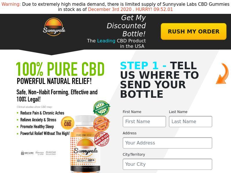 Sunnyvale Labs CBD Gummies (CPA) (SS) (US) (SMS Allowed)