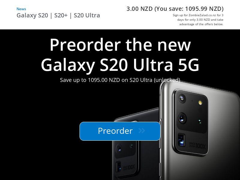 Samsung Galaxy S20 (Prelander) - NZ