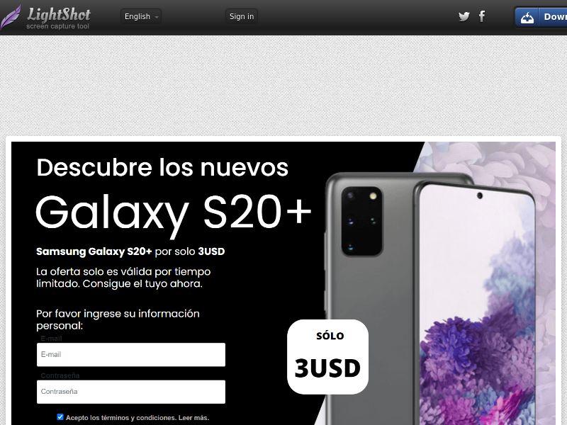 Sweeps Builder Galaxy S20 - LP3 (CC Trial) - Ecuador