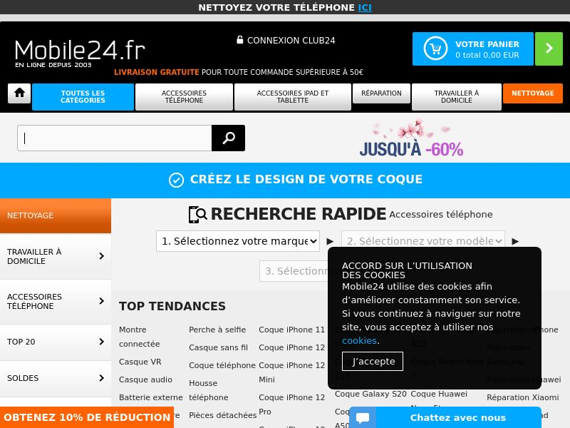Mobile24 - FR (FR), [CPS], Appliances and Electronics, Hardware, Telephones and accessories, Audio and video, Sell, shop, gift