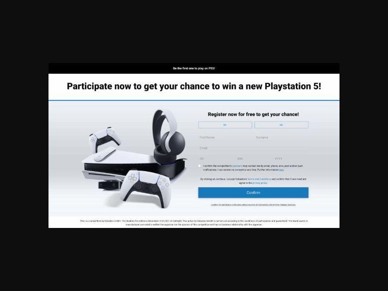 Win a PS5 - UK