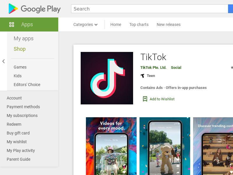 Tik tok Android US 0.95$ [prelander]