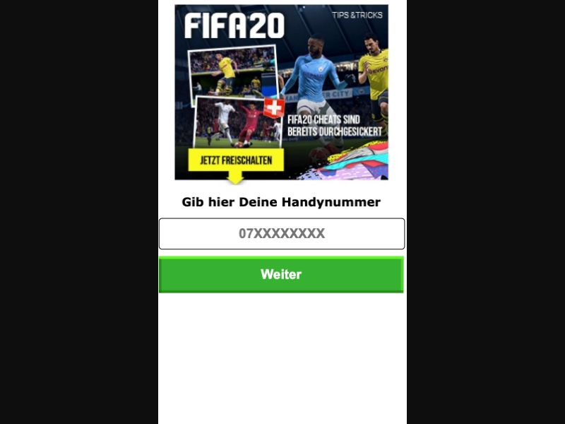 Fifa 20 - SMS Flow - CH - Online Games - Mobile