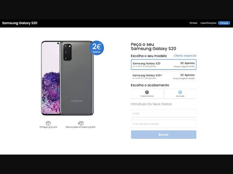 Samsung Galaxy S20 (Cloud Blue) - CC submit [BR] - CC Submit