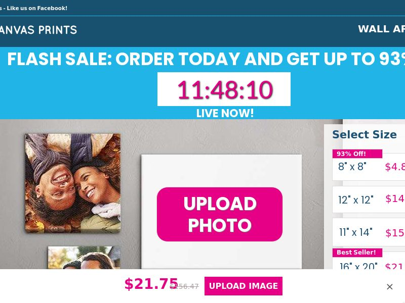 US - Up To 93 Easy Canvas Prints - CPA - Email only