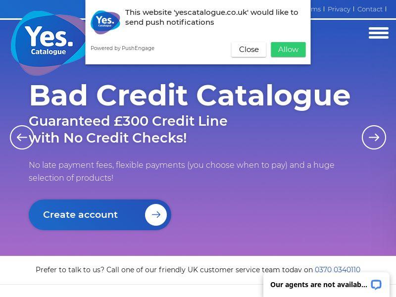 Yes Catalogue - £300 Credit - CPA - UK