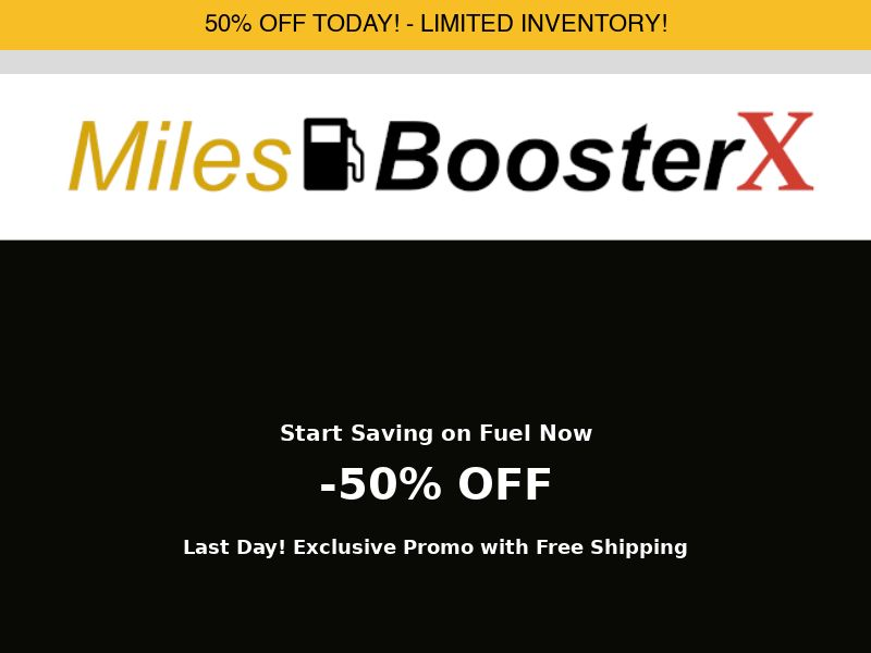 MilesBooster X Fuel Saver
