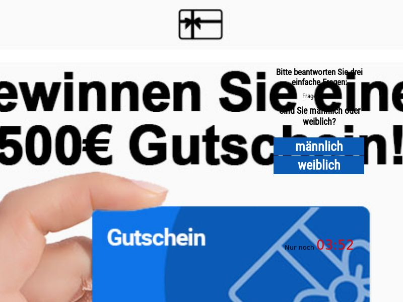 9813) [WEB+WAP] Giftcard 500€ - DE - CPL
