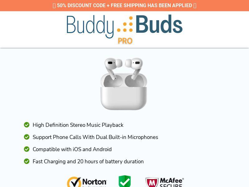 Buddy Buds Pro - Mini Earbuds - CPA - [22 GEOs]