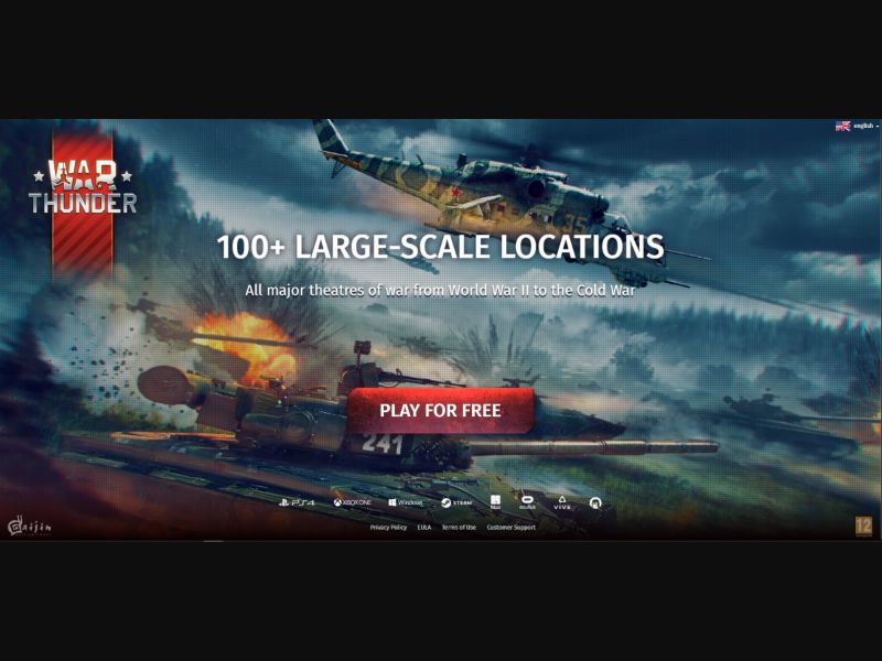 War Thunder - DE, AT, CH (AT,DE,CH), [CPA], Entertainment, Games, Client games, Double Opt-In, Email Submit, game