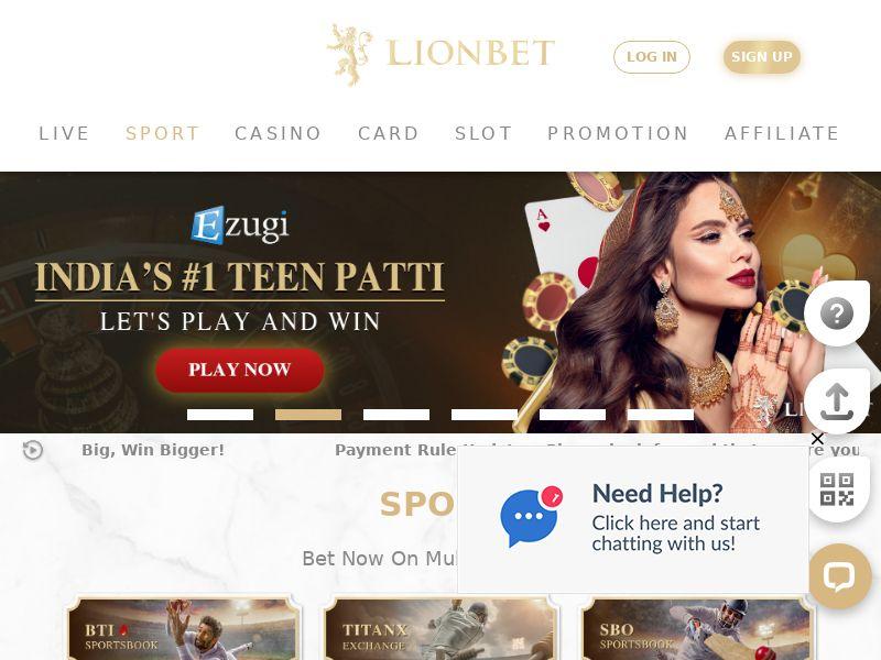 Lionbet CPA (IN)   $35   Sports Betting & Casino