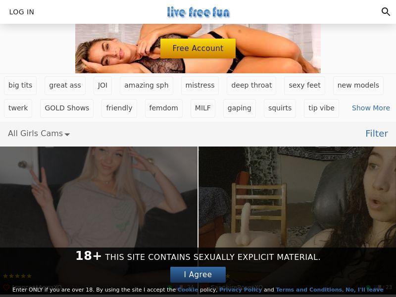 Exposed Webcams / Live Free Fun - Revshare Lifetime - Responsive