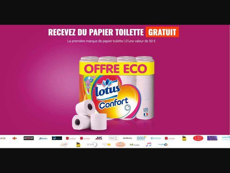 Lotus Toilet Paper - CPL SOI - FR - Sweepstakes - Responsive