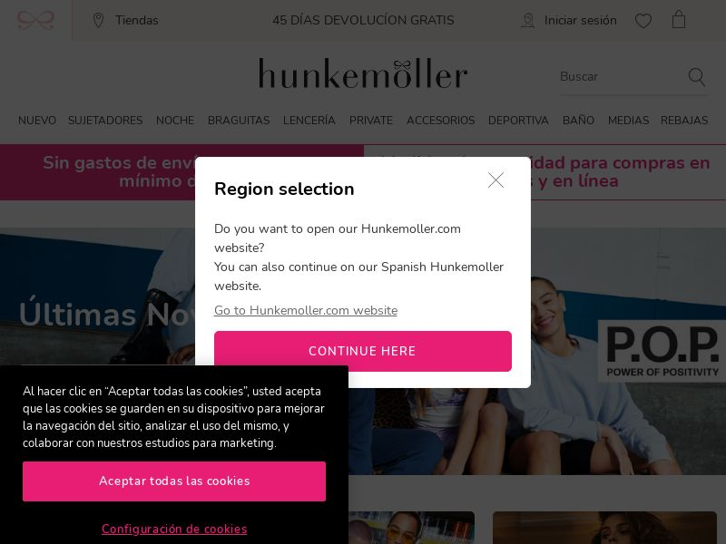 Hunkemoller - ES, FR, DE, UK (FR,DE,ES,GB), [CPA], Fashion, Clothes, Accessories and additions, Accessories, Jewelry, Presents, Sell, shop, gift