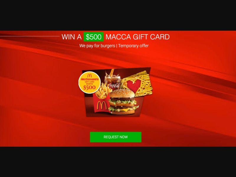 McDonalds - CPL SOI - AU - Sweepstakes - Responsive