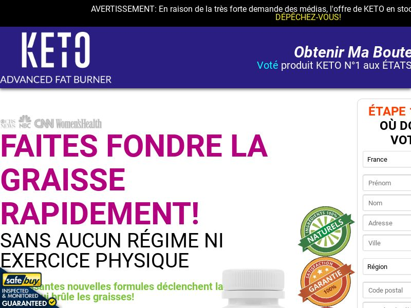 Keto Advanced Fat Burner LP04 (French)