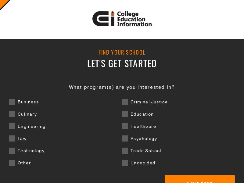 CollegeInfo - (Email Only) - Non-Grant