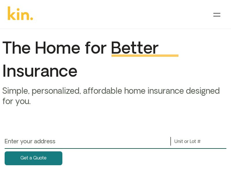 Kin Insurance - Home Insurance for Extreme Weather - SOI - US (FL & CA only)