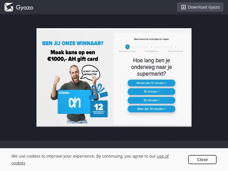 OnlineWinAction - Albert Heijn (NL) (CPL) (Personal Approval)