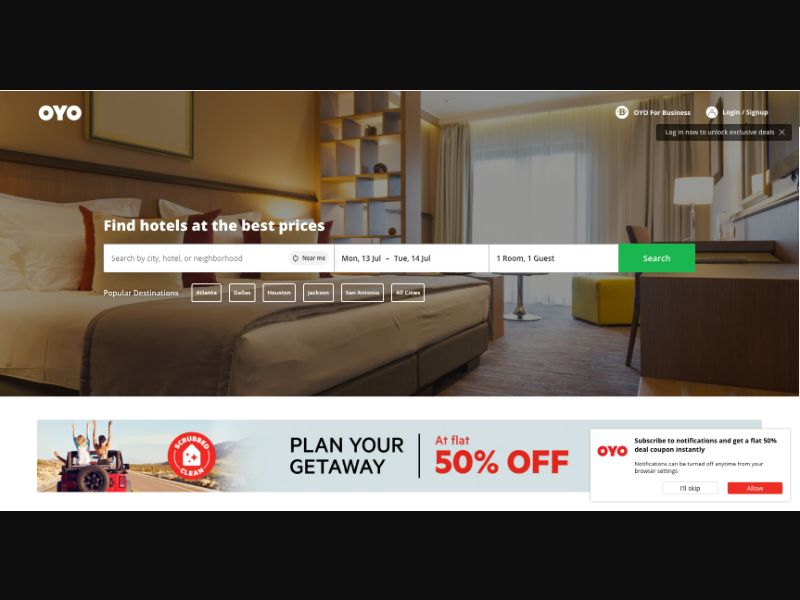Oyo Hotels - CC Submit - WW - Travel - Responsive