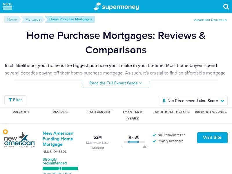 SuperMoney - Mortgage Purchase