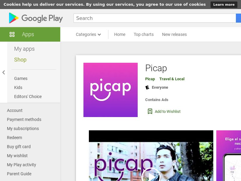 Picap (iOS, Free, BR, 101MB, w/capping, PRIVATE) CPA