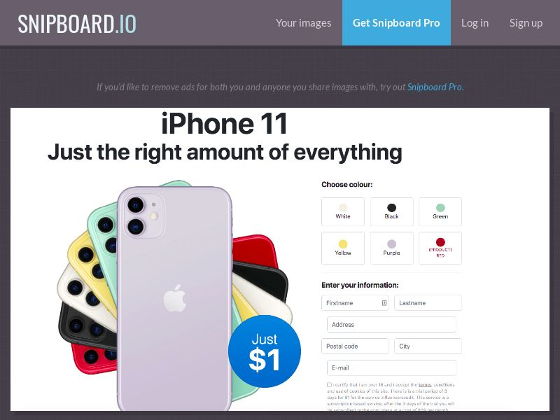 39086 - US - OrangeViral - Affiliati - iPhone 11 - Only US - CC submit