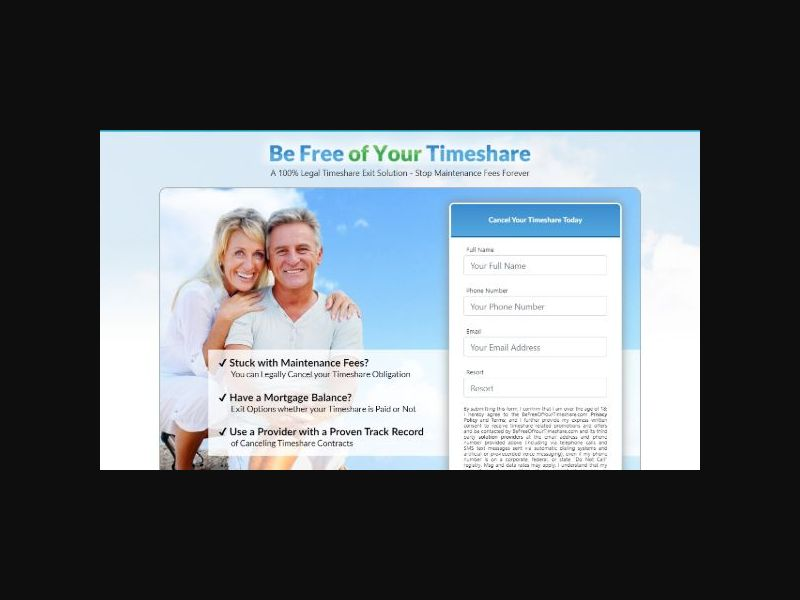 Be Free Of Your Timeshare - Cancel Timeshares (US)