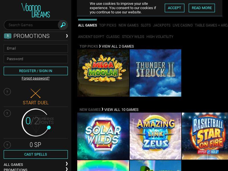 VoodooDreams Casino - DE (DE), [CPA], Gambling, Casino, Deposit Payment, million, lotto