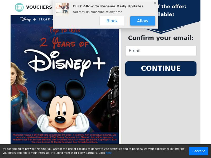 Try to win 2 years of Disney+ (Email Submit) - US