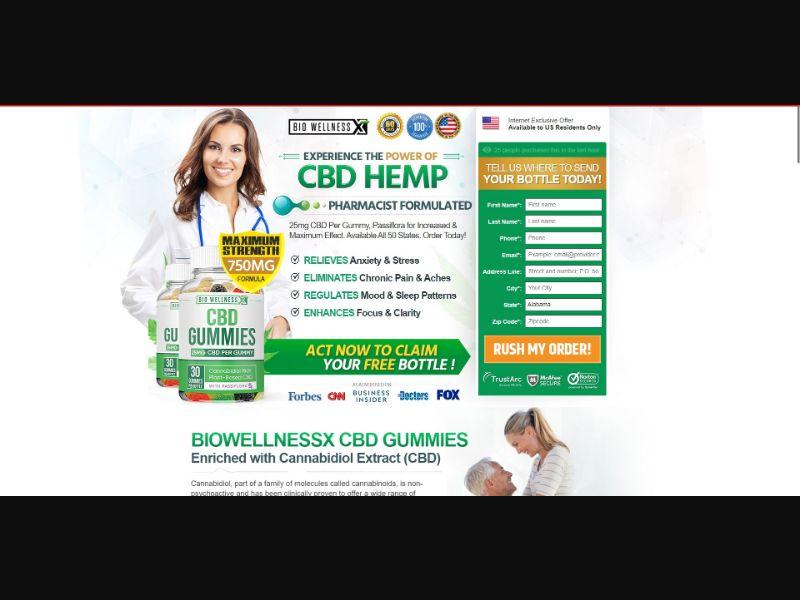 Bio Wellness CBD Gummies - CBD - SS - NO SEO - [US]