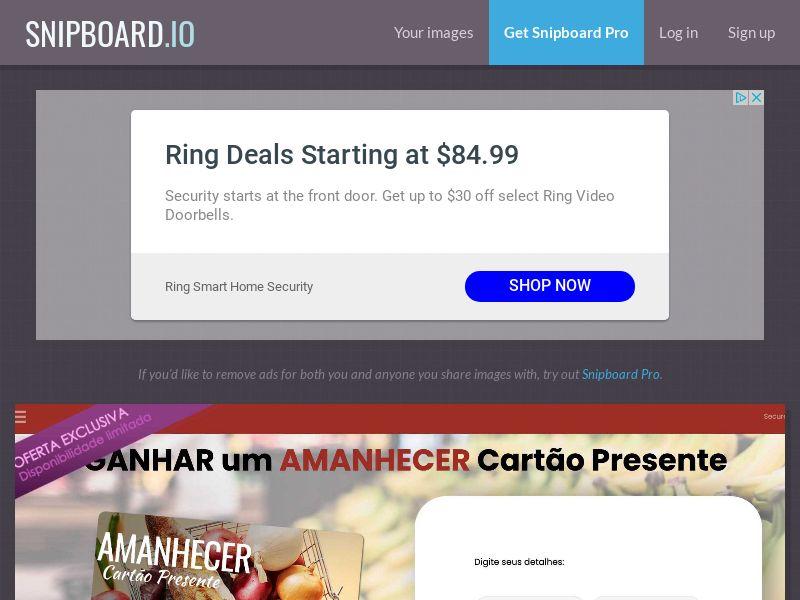 ConsumersConnect - €250 Amanhecer Supermarket Giftcard PT - SOI