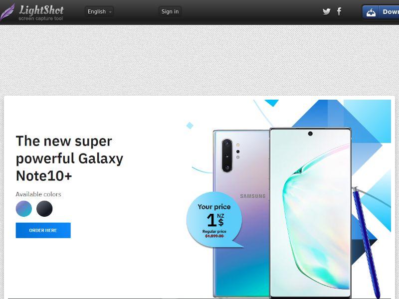winlotsofthings Galaxy Note10+ (Sweepstake) (CC Trial) - New Zealand [NZ]