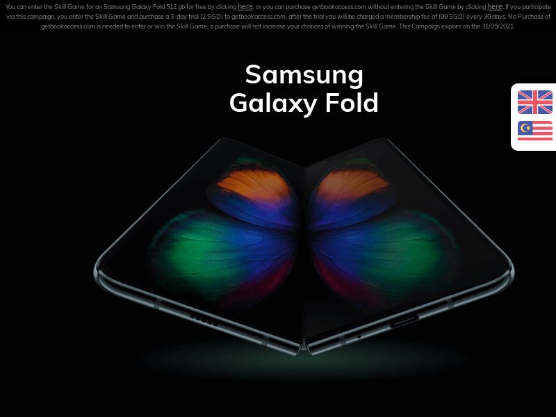 SG -Samsung Galaxy Fold SG -CC Submits