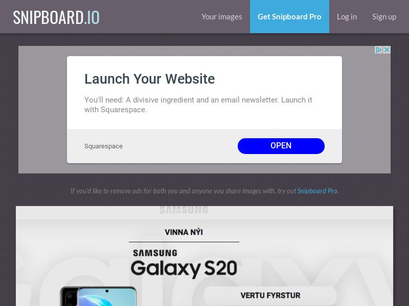 MagnificentPrize - Samsung Galaxy S20 IS - CC Submit