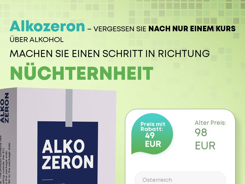Alkozeron AT - alcoholism treatment product